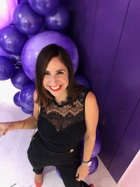 A hallway filled with purple balloons- my favorite!